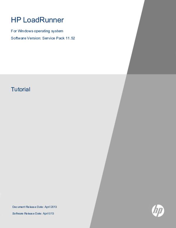 PDF) HP LoadRunner Tutorial | Priyank Panchal - Academia edu