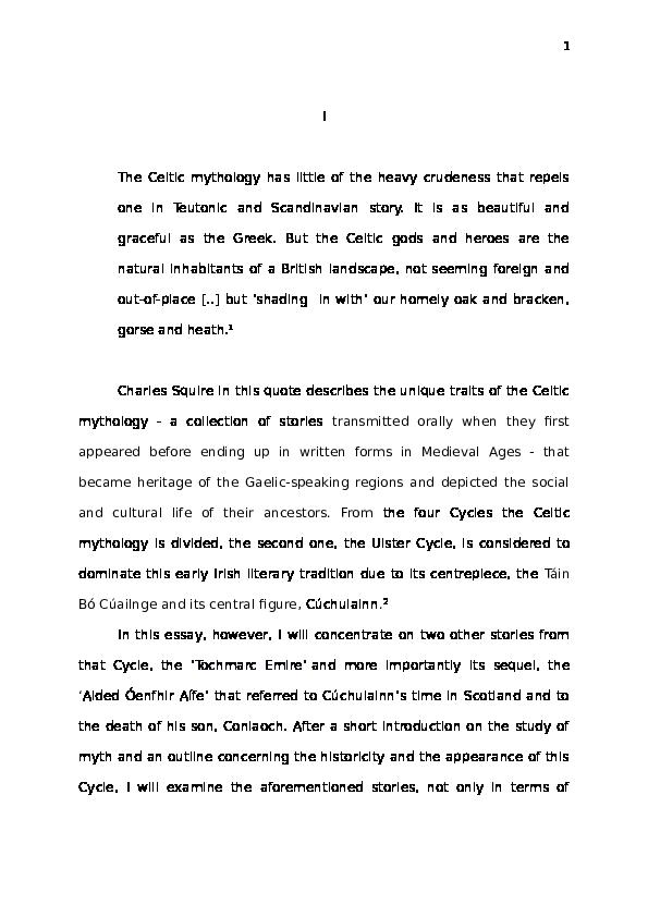 DOC) The Myth of Cu Chulainn and Connla in Modern Music