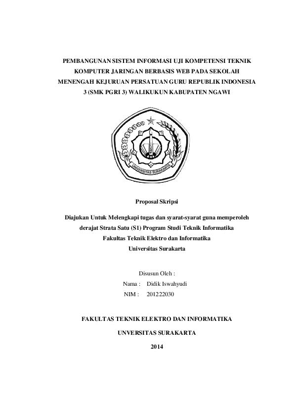 Pdf Proposal Skripsi Ayah E Mikel Academia Edu