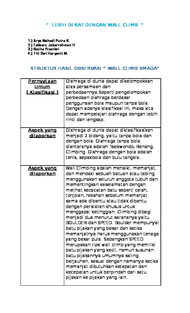 Contoh Teks Laporan Hasil Observasi Beserta Strukturnya Seputar Laporan