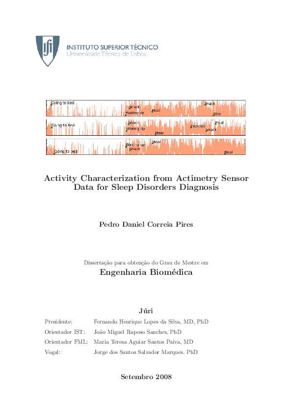 PDF) Activity Characterization from Actimetry Sensor Data