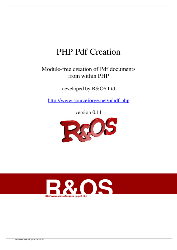 PDF) PHP Pdf Creation Module-free creation of Pdf documents from