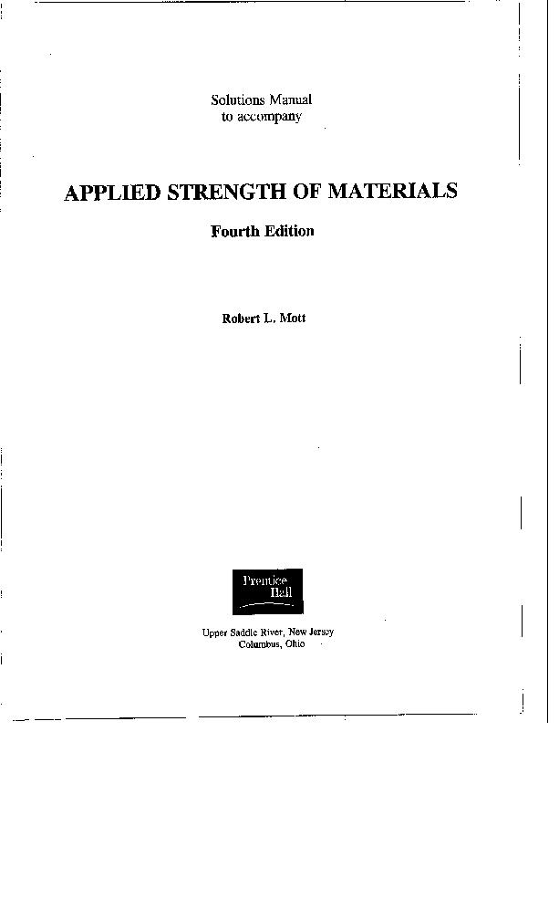 solucionario de resistencia de materiales aplicada ed robert l
