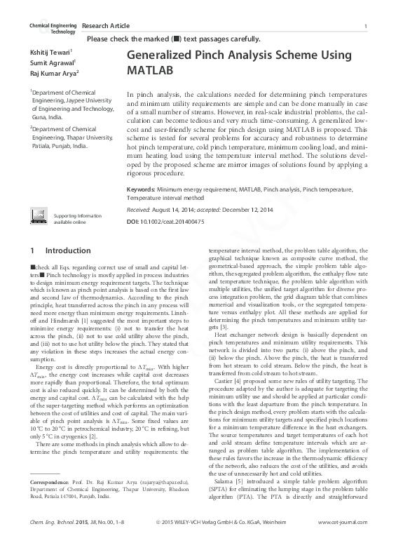 Pinch Analysis And Process Integration Pdf