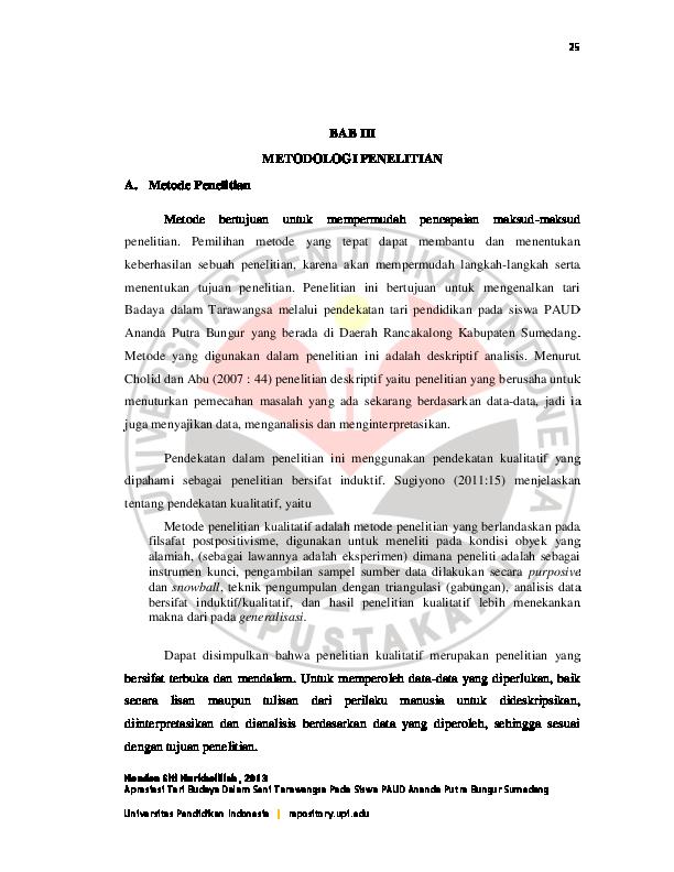 Pdf Bab Iii Metodologi Penelitian A Metode Penelitian Metode
