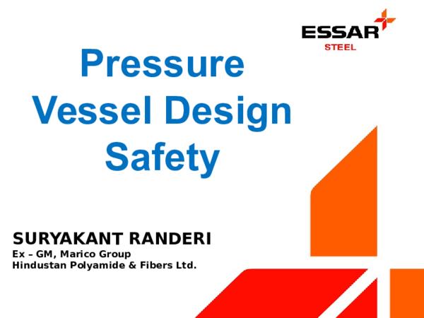 PPT) Pressure Vessel Design and Safety | Suryakant Randeri