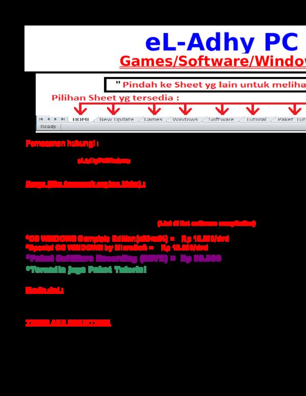 List e L-Adhy 1 Juni 2012 (Games Windows Software Tutorial