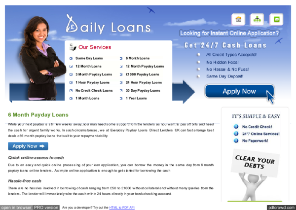 pay day advance mortgages free of appraisal of creditworthiness