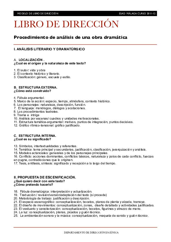 Pdf Departamento De Dirección Escénica Manuel Araujo