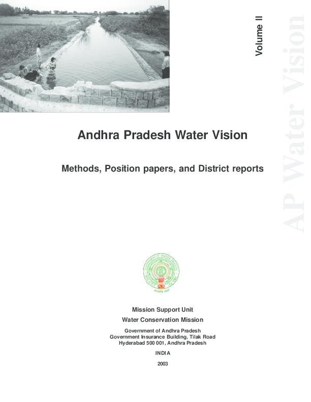 PDF) Andhra Pradesh Water Vision - a shared water vision