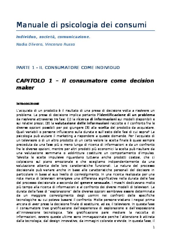 DOC) Manuale di psicologia dei consumi  39d53ea01fe