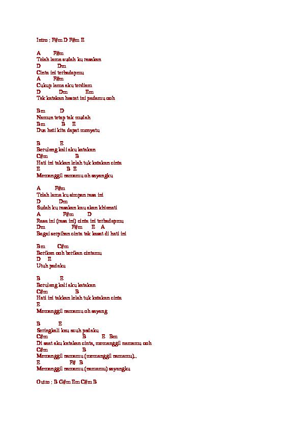 Jikustik Puisi Chord
