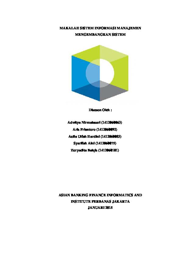 Pdf Makalah Sistem Informasi Manajemen Mengembangkan Sistem Zuryadita Balqis Academia Edu