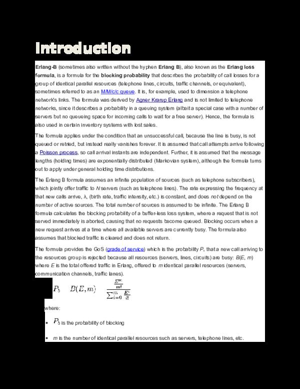 DOC) Blocking probability computation | Atanu Chowdhary