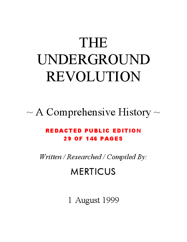 PDF) The Underground Revolution - A Comprehensive History Of The
