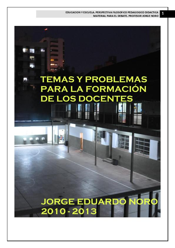 Pdf 13 Temas Y Problemas En La Formacion De Los Docentes