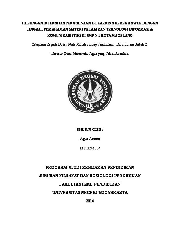 Doc Proposal Survey Pendidikan Agus Astono Academia Edu