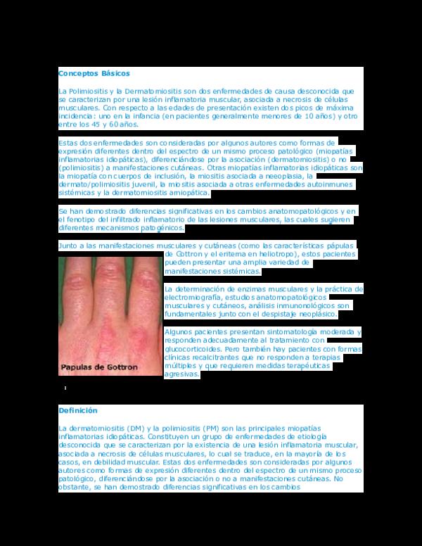 etiologia de la miositis