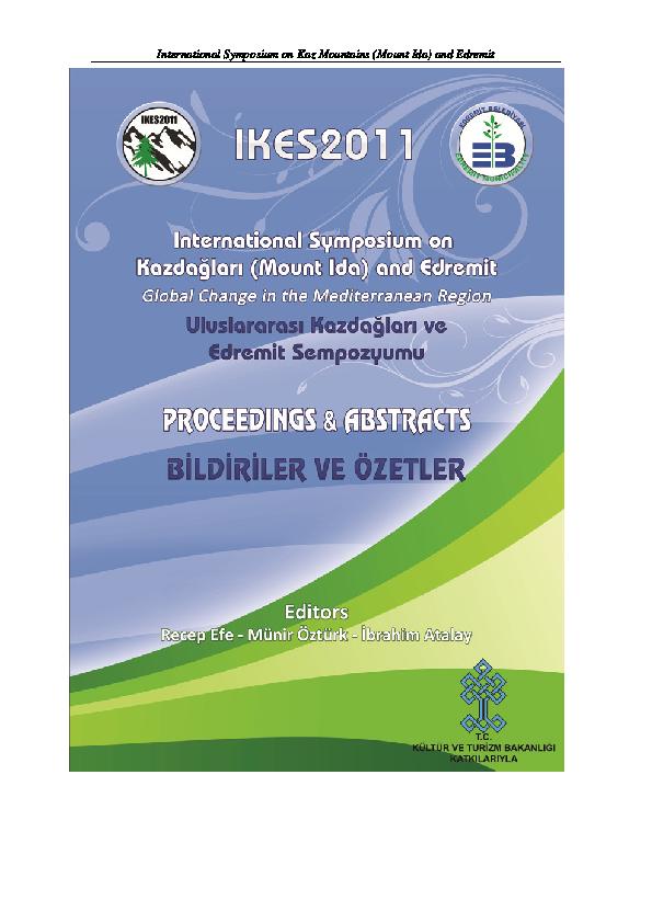 c0637eb510c21 PDF) Proceedings- I. International Symposium on Kaz Mountains and ...