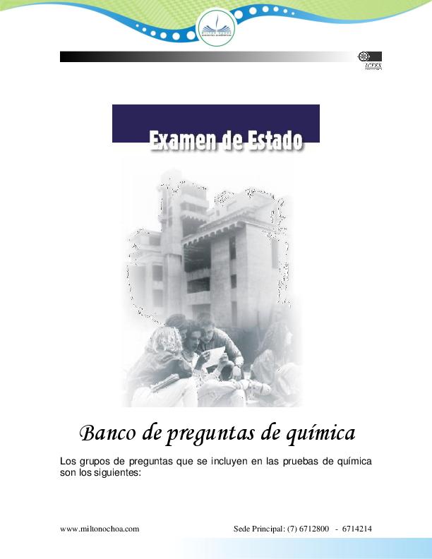 Pdf Quimica Icfes Cristian Mauricio Academia Edu