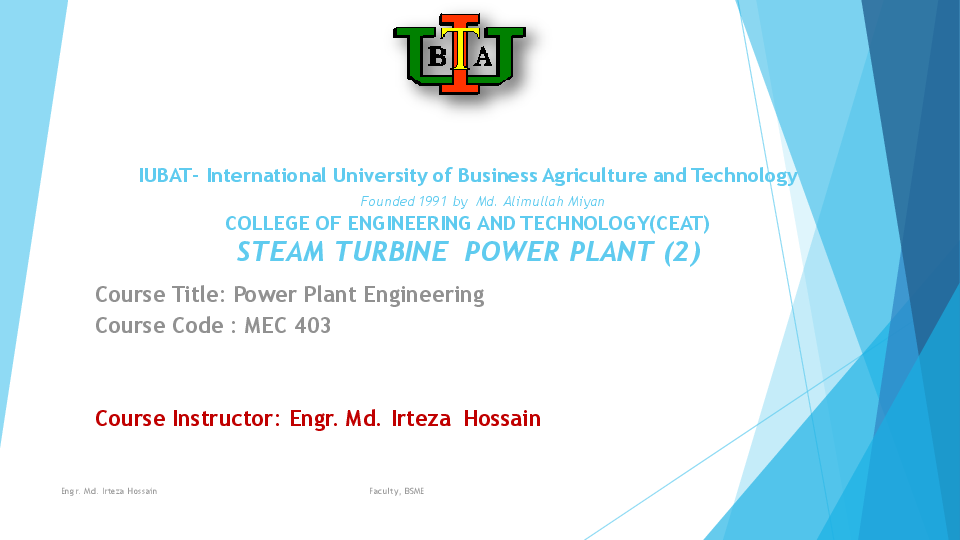 PDF) COMPOUNDING OF STEAM TURBINE ( LECTURE SLIDE 04) | Md