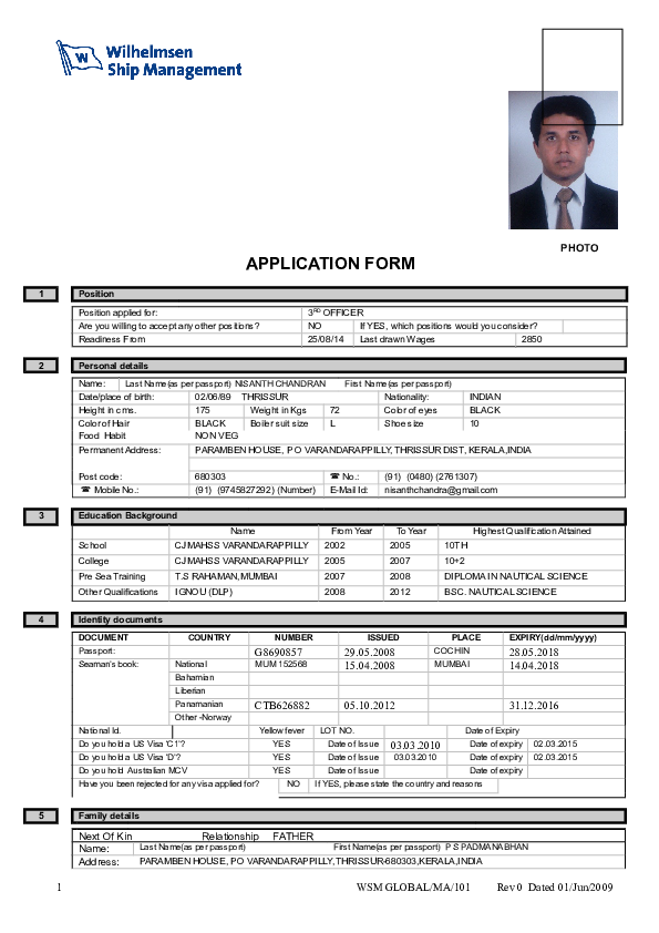Doc Wsm Global Ma 101 Application Form Nisanth Chandran Academia Edu