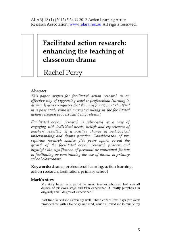 action research paper classroom management