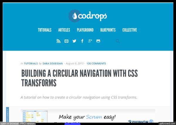 PDF) BUILDING A CIRCULAR NAVIGATION WITH CSS TRANSFORMS