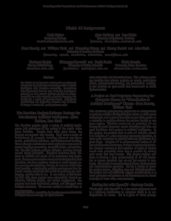 PDF) Model AI Assignments | alex nash - Academia edu