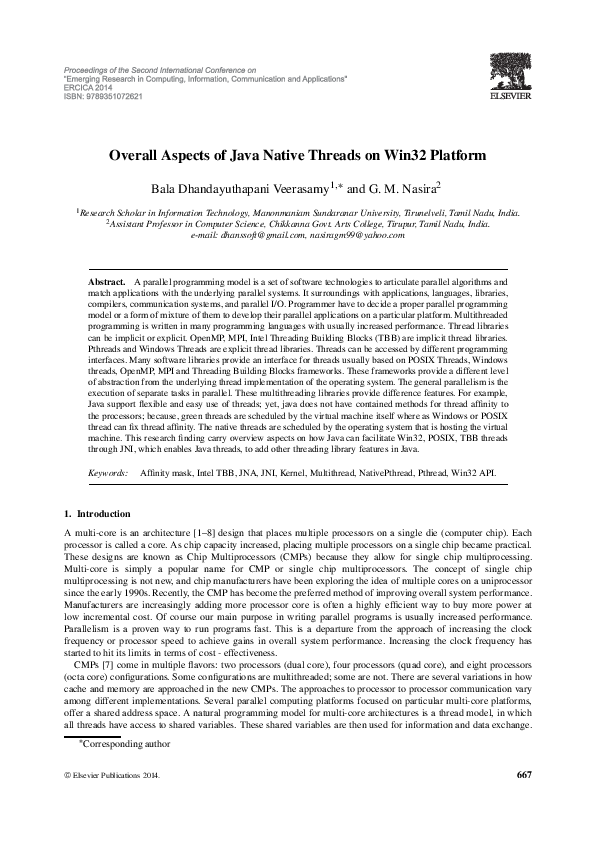 PDF) Overall Aspects of Java Native Threads onWin32 Platform