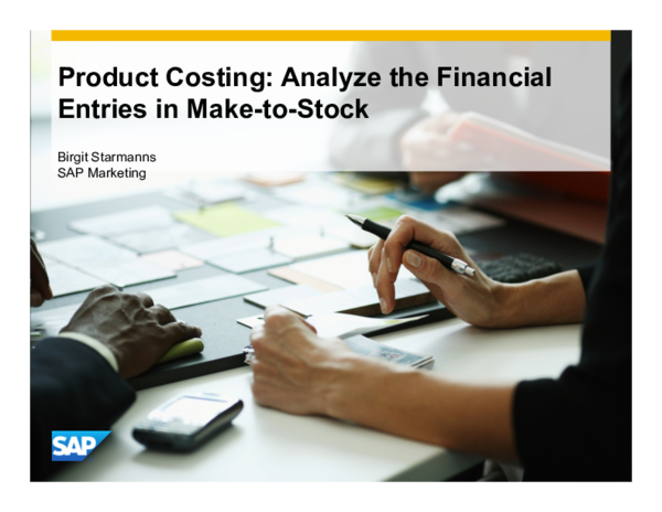 PDF) Product Costing: Analyze the Financial Entries in Make