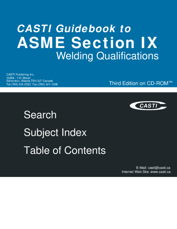 PDF) ASME Section IX Third Edition on CD-ROM | Özer Karakuş