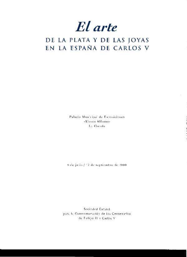 439ce3dc2f34 PDF) La platería en Castilla y León