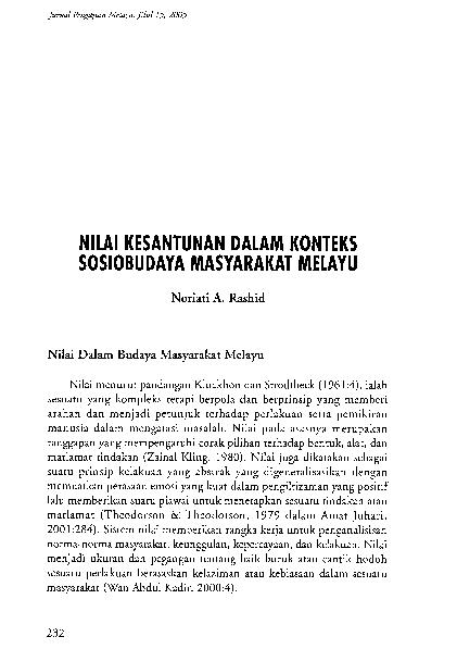 Pdf Kesantunan Masyarakat Melayu Farid Zaki Academia Edu