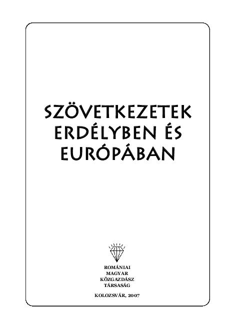 PDF) Szövetkezetek Erdélyben és Európában  Cooperatives in ... e2eb4fd313