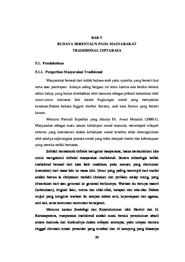 PDF) BUDAYA SERENTAUN | Dias Pratami Putri - Academia edu