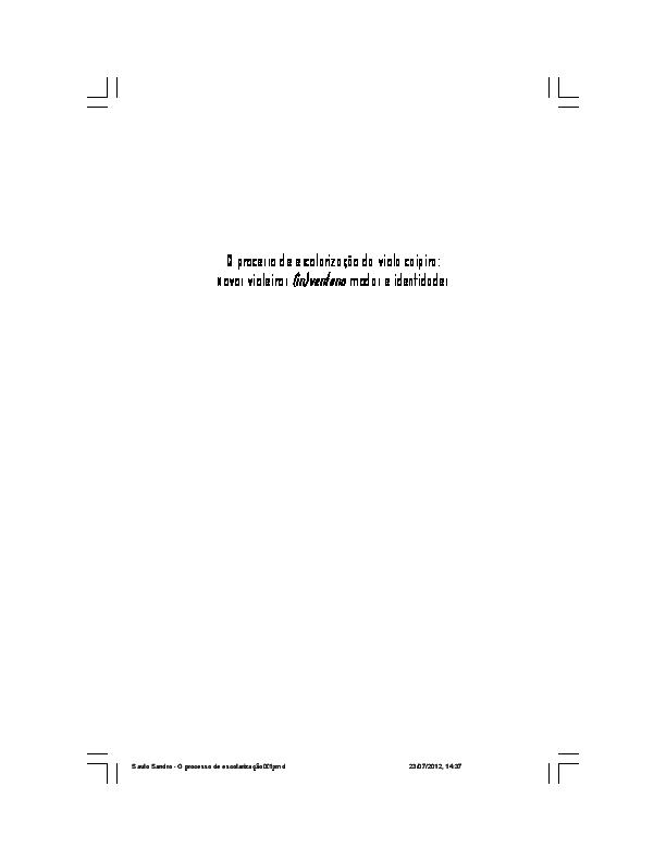 PDF) O processo de escolarização da viola caipira  467700fe279
