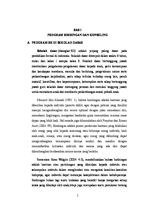 Doc Laporan Observasi Bk Sd 1 Ayamputih Dini Iswiranti Academia Edu
