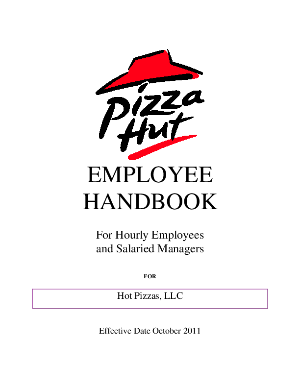 PDF) EMPLOYEE HANDBOOK For Hourly Employees and Salaried