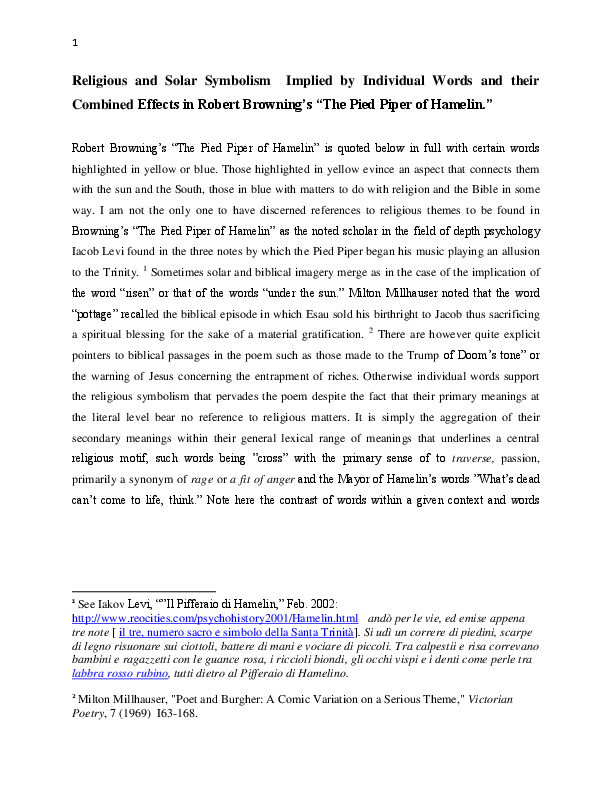 PDF) Solar and Religious Symbolism Embedded in the Words of
