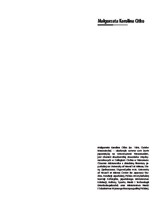 Pdf Poezja ósmej Antologii Cesarskiej Shinkokin Wakashū W