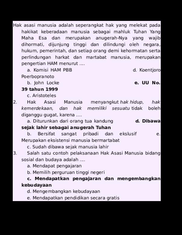 Doc Kumpulan Soal Pkn Any Lesta Academia Edu