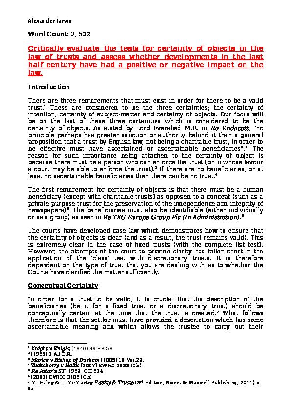 mcphail v doulton essay