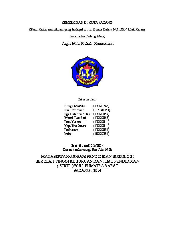 Doc Laporan Kemiskinan Okee Rahmatul Hadi Academia Edu