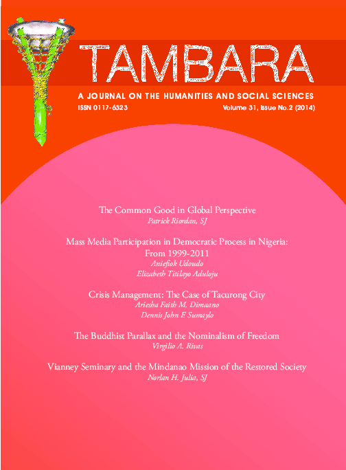PDF) The Buddhist Parallax and the Nominalism of Freedom