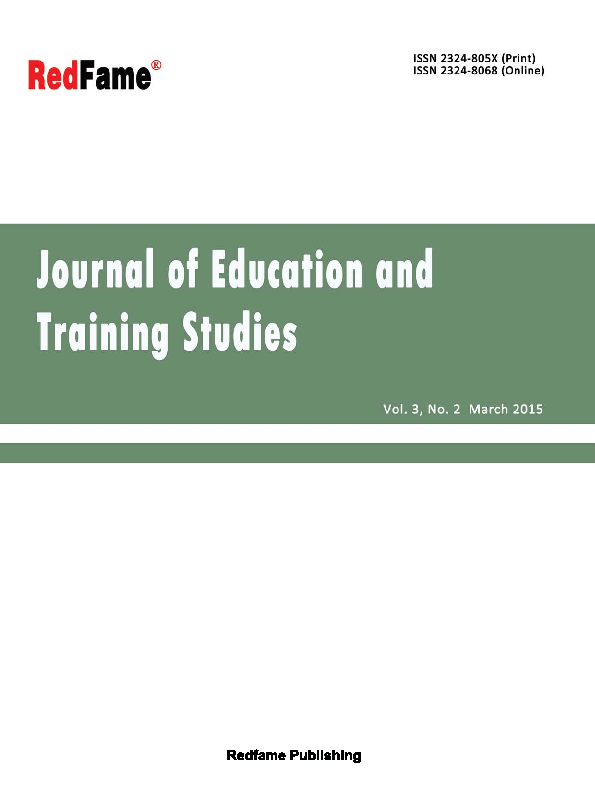 PDF) Journal of Education and Training Studies, Vol  3, No