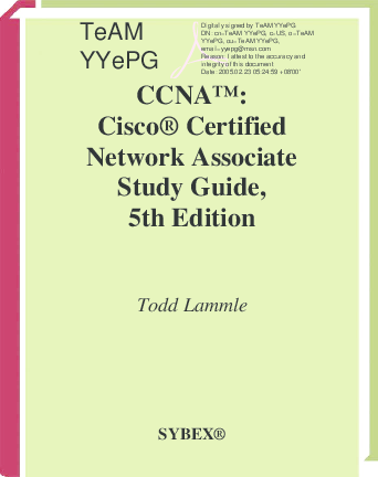 PDF) Cisco certified network associate study guide 5th edition