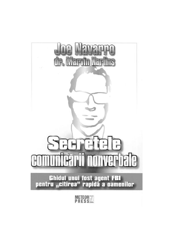 joe navarro secretele comunicarii nonverbale pdf
