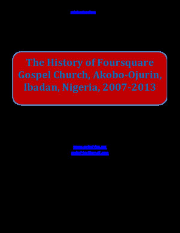 Groundwork Of Nigerian History Pdf