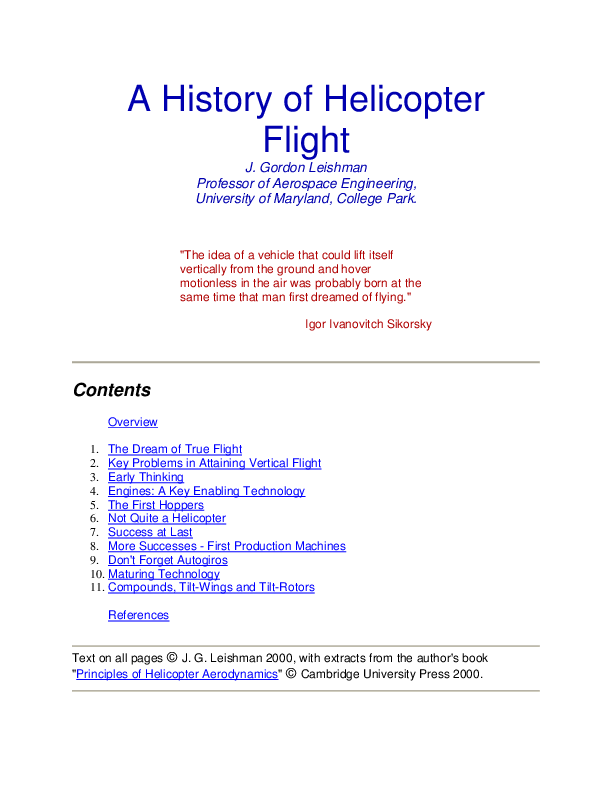 Principles Of Helicopter Flight Pdf